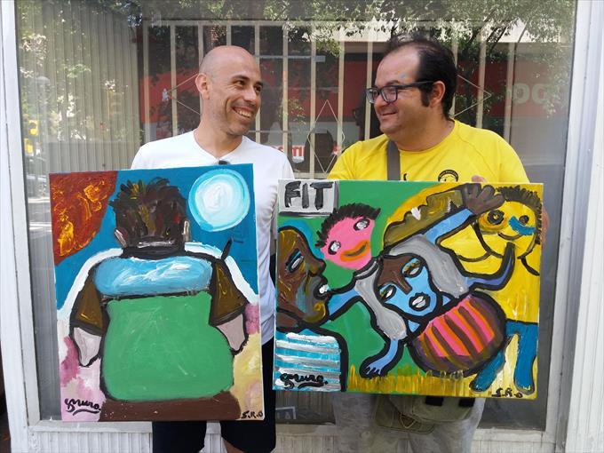 Arte de tú a tú entre los artistas Sergio Royo de la Fundación Rey Ardid y Sergio Muro