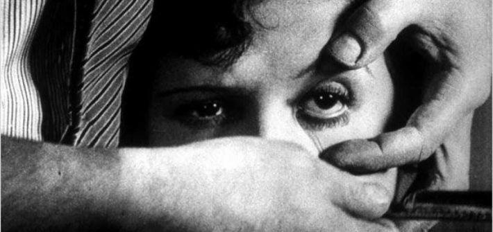 Fotograma de Un perro andaluz, Luis Buñuel
