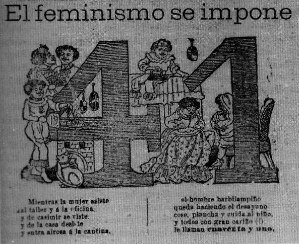 el feminismo se impone de josé guadalupe posada 1917