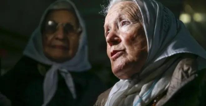 Nora Cortiñas de Madres de la Plaza de Mayo visitó a los detenidos.