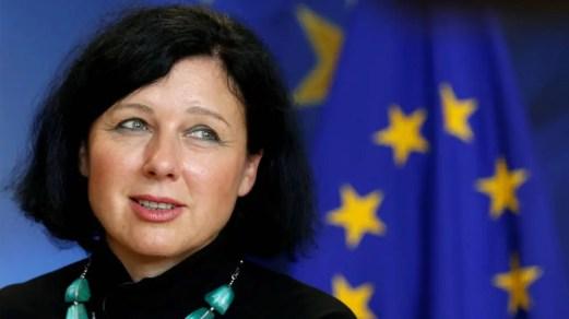 Vera Jourová. Imagen Reuters
