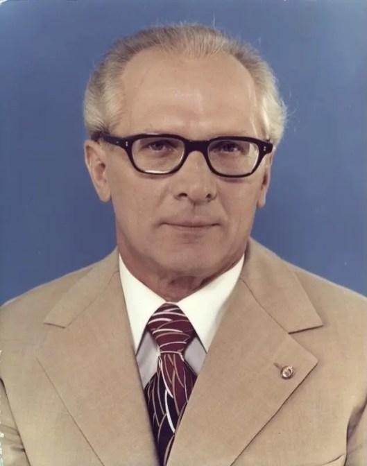 Honecker, presidente del consejo de Estado de la RDA entre 1976 y 1989.