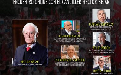 Escenario del Perú: Encuentro online con el canciller depuesto Héctor Béjar