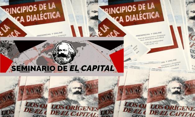 Presentación de los nuevos talleres del Seminario de El Capital de Sarriko