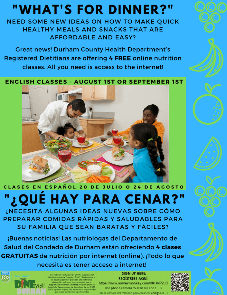 DINE WELL DURHAM NUTRITION CLASSES