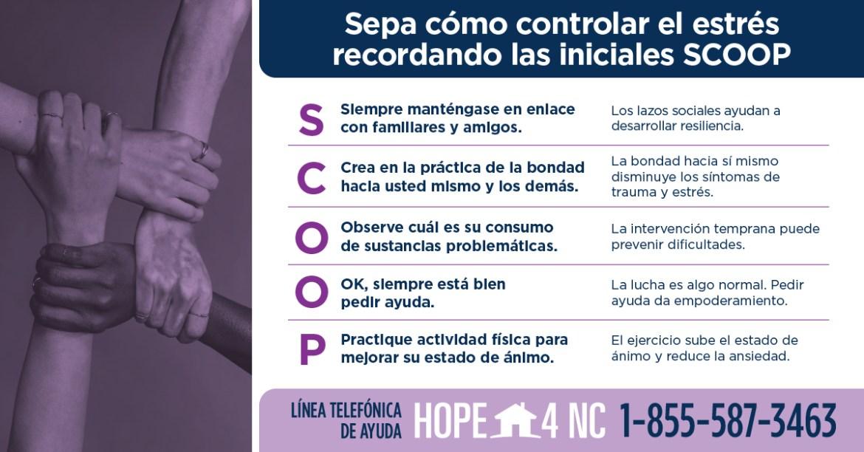 Hope4NC recursos de salud mental