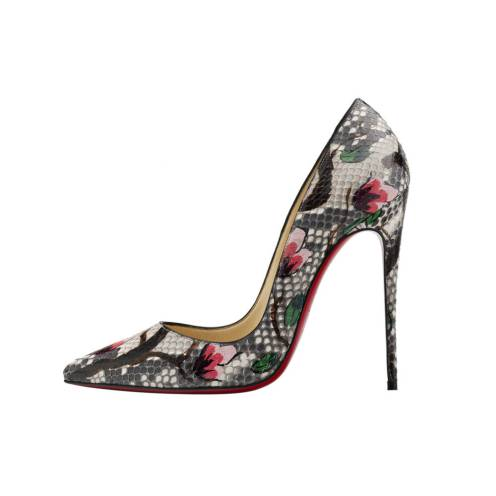Christian Louboutin So Kate 120 Python Flower