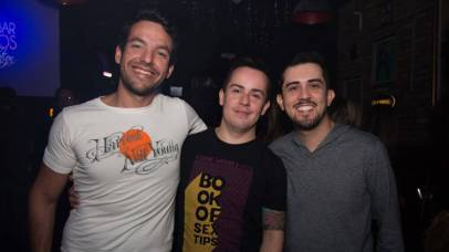 Leonardo Marcoviq, Wilson Faria e Alberto Oliveira
