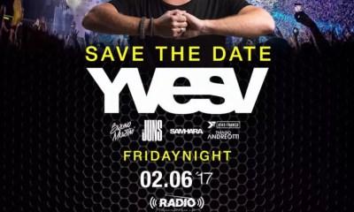 YVES V, o DJ Top Mundial residente do Tomorrowland, se apresenta hoje!