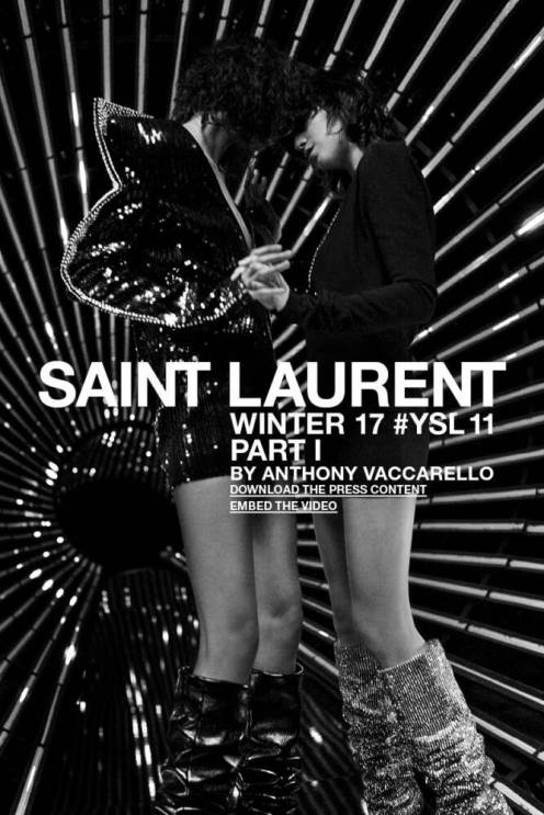 Saint Laurent lança fashion film da nova campanha