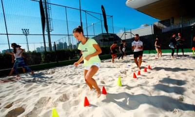 Jockey Club vira praia de paulistano com práticas esportivas