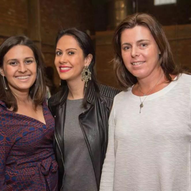 Mariana Queiroz, Milena Cardoso (blog Questão de Estilo) e Gabi Arantes (Buffet Zest)