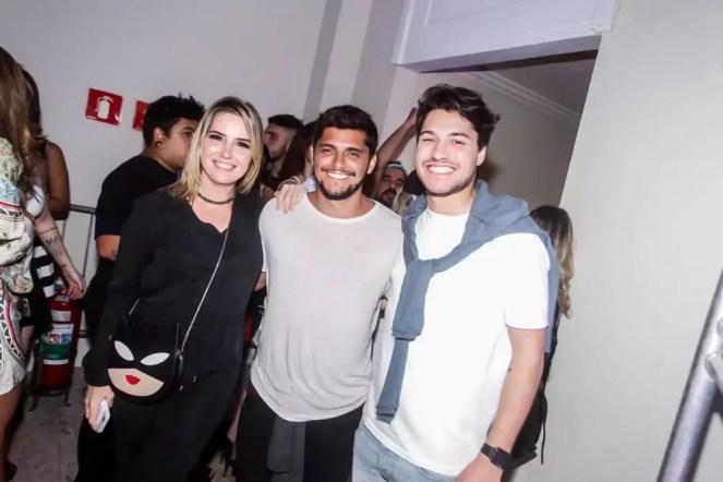 Valentina Drummond, Bruno Gissoni e Mauricio Barbieri