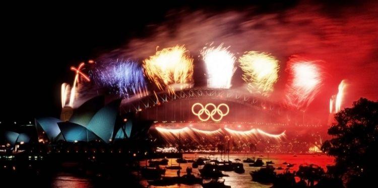 Inauguración Juegos Olímpicos Tokio 2020 fireworks fuegos artificiales