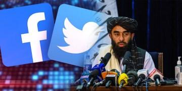 Talibanes en redes sociales, Twitter y Facebook