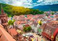 Friburgo, vista aérea de pueblo colorido. FOTO Hola