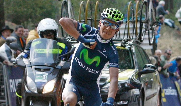 Nairo ha logrado su tercera gran victoria de la temporada con su equipo del Movistar Team