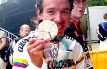El medallista de plata olímpico, Rigoberto Urán