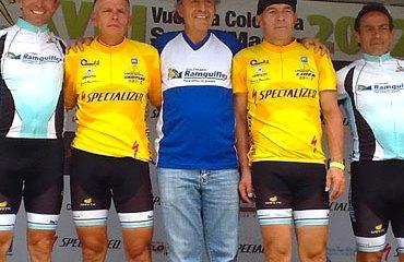 Podio Vuelta a Colombia Sénior Máster