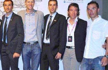 Rigoberto Urán fue uno de los corredores invitados a la presentación del Giro-2013