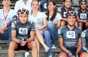 Equipo de ciclismo 4-72 Colombia en Pereira