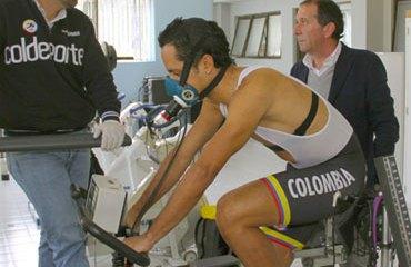 Dalivier Ospina en plenas pruebas físicas