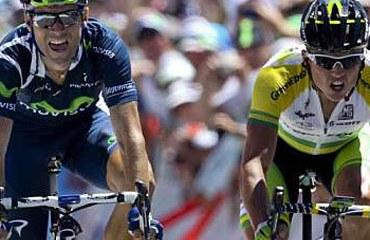 Simón Gerrans y Alejandro Valverde en el Tour 2012