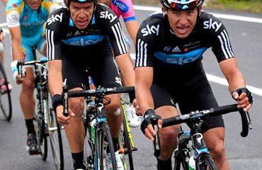 Sergio Luis Henao y Rigoberto Urán en Mallorca