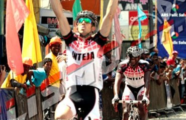 El corredor Diego Milán y su momento cumbre de victoria