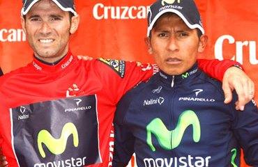 Alejandro Valverde y Nairo Quintana en Andalucía