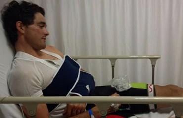 Oscar Sevilla ya se recupera en su casa