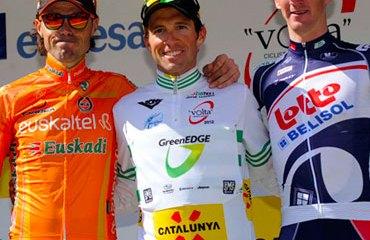 Podio final de la Vuelta a Cataluña 2012