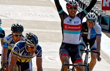 Cancellara y su victoria en la París-Roubaix 2013