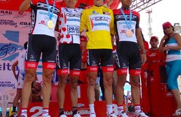 Oscar Sánchez se volvió a vestir de amarillo en la carrera chapina