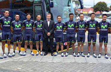 El Movistar ya está listo para el inicio de la Vuelta a Colombia
