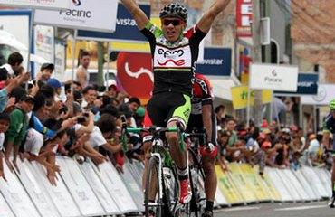 Stiver Ortiz, primer líder de la Vuelta 2013