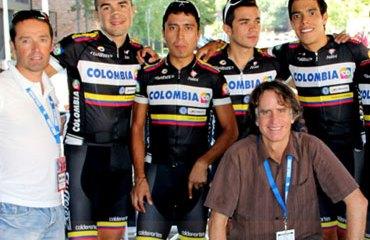El Team Colombia en plena competencia del Colorado