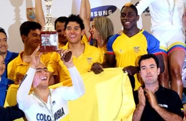 La selección nacional de pista en la pasada Copa Mundo de Cali