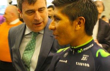 Quintana junto a Miguel Cardenal, Secretario de Estado para el Deporte español