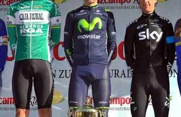 El podio de la Vuelta a Andalucía 2014