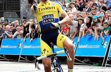 Contador y su victoria en Ordizia