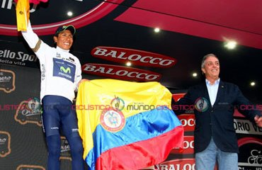 Botero le puso la 'maglia' blanca de mejor joven a Quintana