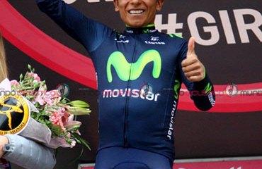 El fantástico escalador colombiano y su podio en Val Martello