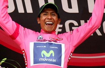 Quintana asumió el liderato del Giro tras una épica jornada