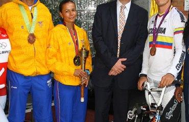 El Día Olímpico se celebró también en las instalaciones de Claro-Colombia