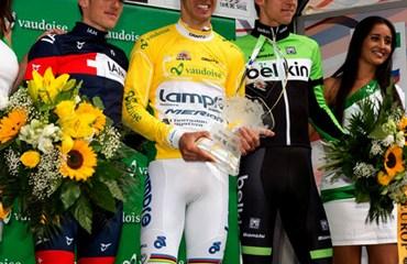 Podio de la Vuelta a Suiza 2014: Costa, Frank y Mollema