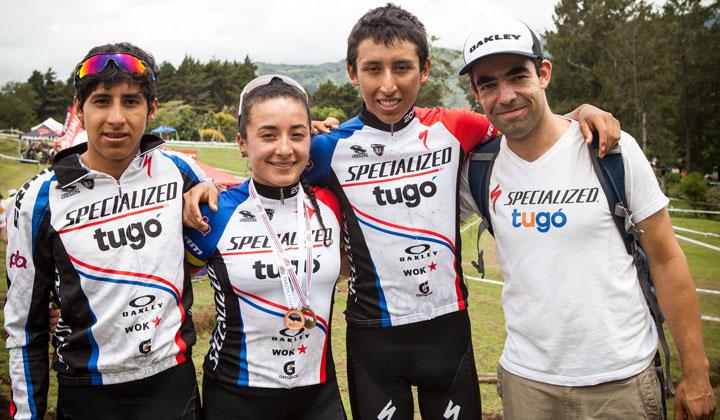 Egán Arley Bernal, Brandon Rivera, Xiomara Guerrero y Pablo Mazuera, representaron con grandes resultados a Colombia en Costa Rica