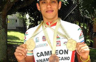 Restrepo se colgó dos medallas de oro y una de bronce en los pasados Panamericanos Juveniles de Pista y Ruta