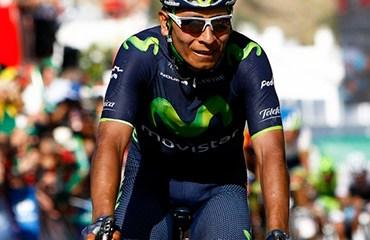 El colombiano Nairo Quintana asumió el liderato justo en el previo del primer receso.