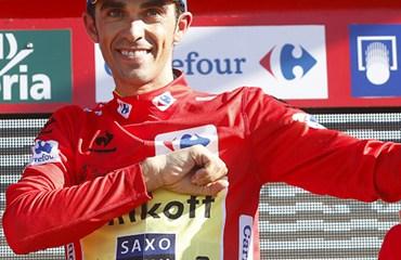 Contador se puso líder de la Vuelta a España tras hacer una gran crono y aprovechar la caída de Nairo Quintana